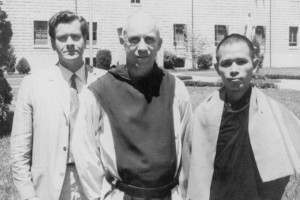 An undated photo provided by Cordova's Mark Heidbrink shows, from left, Heidbrink's father John Heidbrink, contemplative Catholic monk and author Thomas Merton and Buddhist monk and peace activist Thích Nhất Hạnh. Heidbrink's was one of several memories of Merton shared by Alaskans after a recent column recounting his time in the state. Courtesy of Mark Heidbrink